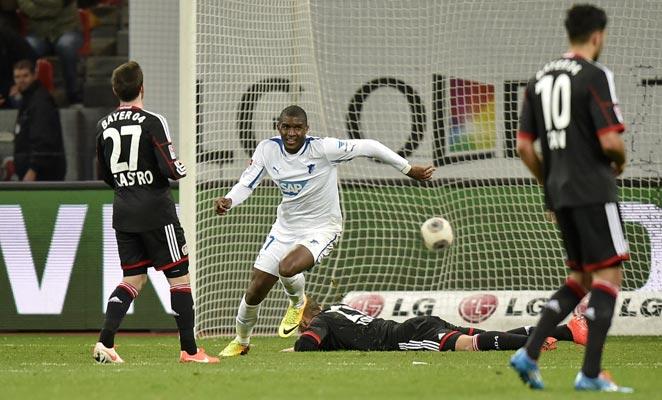Anthony Modeste scored the winner for Hoffenheim as it defeated Bayer Leverkusen on Sunday.