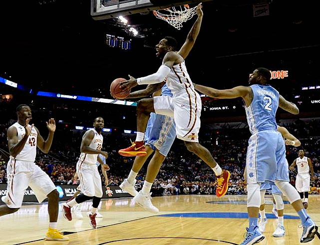 DeAndre Kane and Iowa State lived up to their three-seed slot, defeating the six-seed Tar Heels. Kane drove for the game-winning layup with 1.6 seconds left.