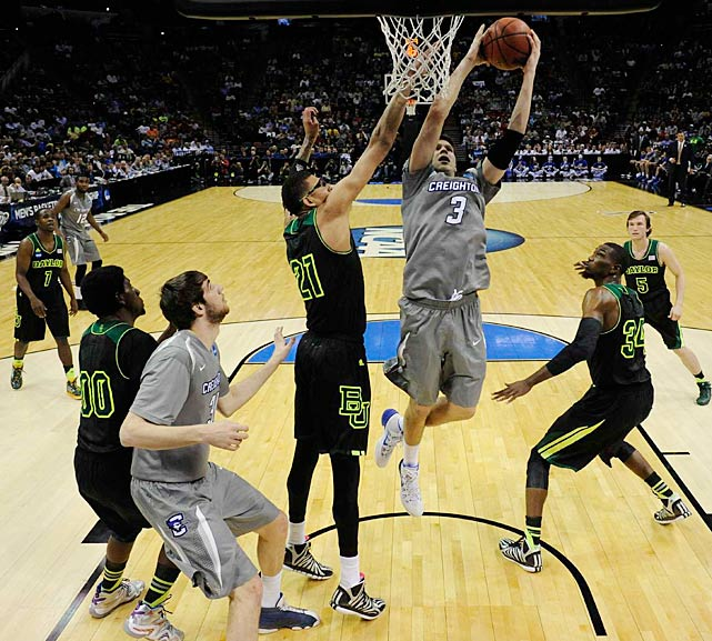 Doug McDermott, who averaged 27 points this season, finished with 15 but had just three in the first half as Baylor built a 20-point lead. When McDermott left the game with 2:31 to play, he hugged his father, Creighton coach Greg McDermott, before retreating to the bench and burying his face in a towel.