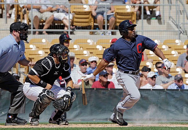 Michael Bourn felt discomfort in his left hamstring while running the bases during a game on March 16.