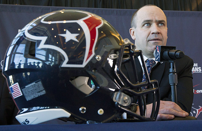Rookie NFL head coach Bill O'Brien inherits a Texans team with the first pick on each day of the draft.