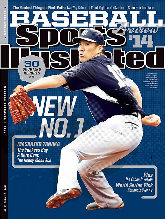 Sports Illustrated's 2014 MLB season preview is here, led by the newest Japanese star, Masahiro Tanaka. The Yankees' $175 million investment and former star in Japan's Nippon Professional Baseball is the national cover for SI¹s preview issue, which also features three additional regional covers. Angels superstar Mike Trout, new Mariners slugger Robinson Cano, and Cardinals stalwart Yadier Molina landed the other three covers.