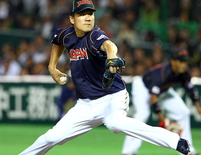 A star in Japan, Masahiro Tanaka pitched on the country's World Baseball Classic team in 2009 and 2013.