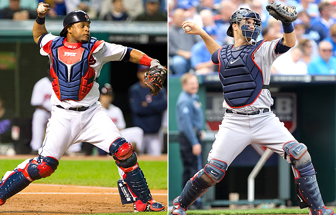 Carlos Santana and Joe Mauer are both top fantasy baseball catchers, but who will provide best value?