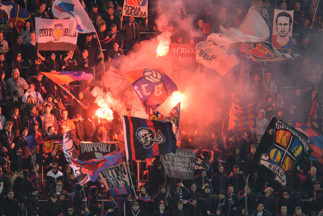 Unruly Basel fans have cost the club being able to play in front of fans during its home leg of the Europa League quarterfinals.
