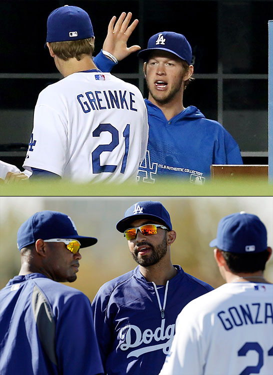 <underline>HIghest salarie</underline>s Zack Greinke $28,000,000 Adrian Gonzalez $21,857,143 Matt Kemp $21,250,000 Carl Crawford $21,107,143 Clayton Kershaw $19,000,000 <italics>NOTE: These five salaries combined are higher than the entire team payroll of 18 teams. </italics>