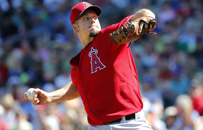 Joe Blaton went 2-14 with the Angels last year and was sent to the bullpen in midseason.