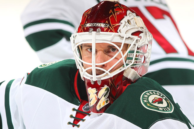 Niklas Backstrom had surgery in Philadelphia on Tuesday on a core muscle injury, and he has not played since January 30.