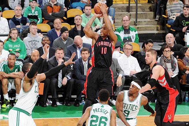 DeMar DeRozan is among the NBA leaders in scoring average and free-throw attempts per game.