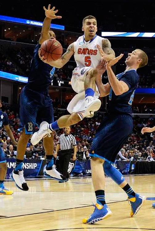 Scottie Wilbekin made sure Florida would play in a regional final for the fourth consecutive year. The shifty guard scored 13 points and had three assists against the Bruins.