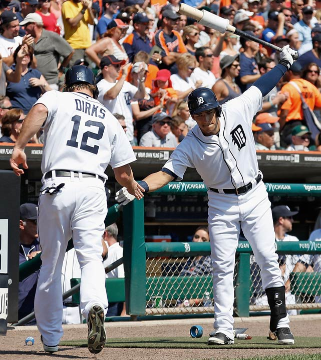 No Prince Fielder in the lineup, no Jose Iglesias at shortstop, an unproven rookie at third base, no outfield depth thanks to Andy Dirks' injury, and the closer is 39-year-old Joe Nathan. Miguel Cabrera's MVP-level production makes Detroit a contender, as does the imposing trio of Justin Verlander, Max Scherzer and Anibal Sanchez. But even with those three pitching lights out in the last postseason, they still fell short. If they're off their game, Detroit's title hopes go up in smoke.