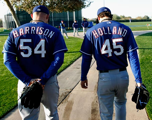 How do you win a title with no viable rotation? The Rangers are going to try to do just that. The disabled list in Texas is already bursting at the seams; Derek Holland and Matt Harrison are there for the long haul, and Yu Darvish just joined them short term. Add in an injury to top rookie Jurickson Profar, and the Rangers resemble a MASH unit more than a ball club. The offense will keep them in games, but without that above-average pitching, Texas' World Series chances are slim to none.