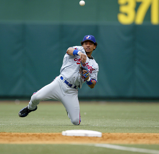 Another member of the final Expos squad (although he was traded mid-season to Boston), the slick-fielding Cabrera won Montreal its only Gold Glove at shortstop in 2001, no easy task on Olympic Stadium's rough artificial turf. Vidro's double-play partner for eight seasons, Cabrera hit .267 in his Montreal tenure, posting a career-best .807 OPS in 2003.