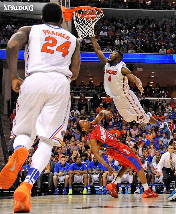 Patric Young and the Gators ended Dayton's cinderella run and reached the Final Four for the fifth time in school history. Florida will face UConn in one of the national semifinals.