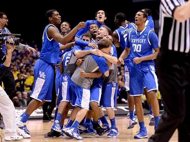 This year's Final Four appearance by Kentucky will be the 16th in school history.