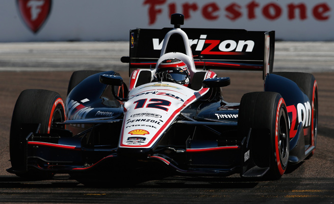 Will Power was one of two Team Penske members to take the podium after the IndyCar Series opener.