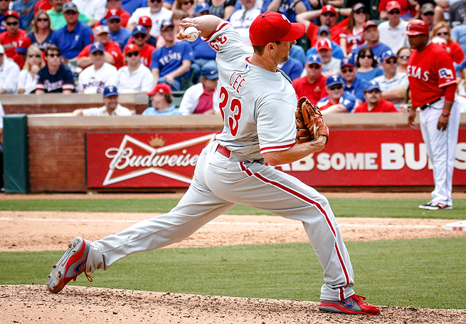 The Rangers took advantage of Cliff Lee, getting 11 hits and eight earned runs in five innings.
