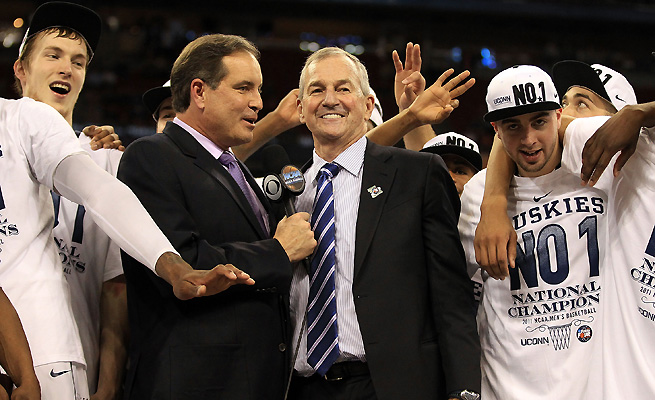 Jim Nantz, who called the Huskies' 2011 title game, will be the play-by-play announcer for the Final Four.