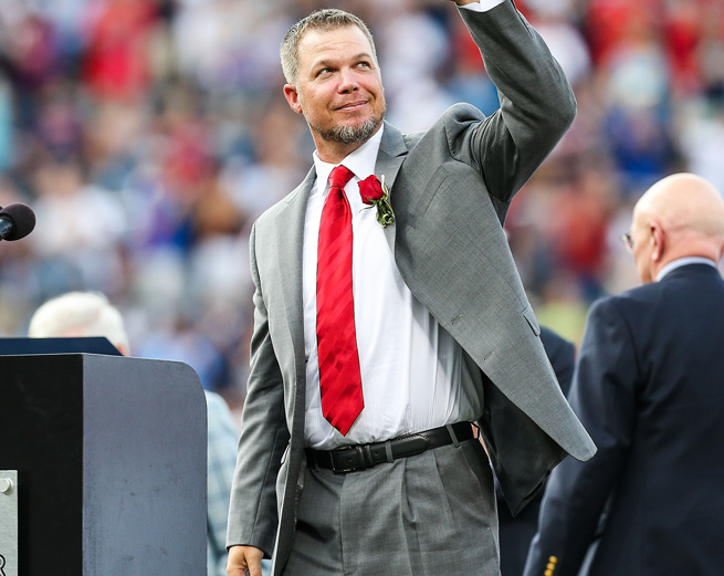 Chipper Jones retired in 2012 after playing 19 seasons and 2,499 games, all with Atlanta.