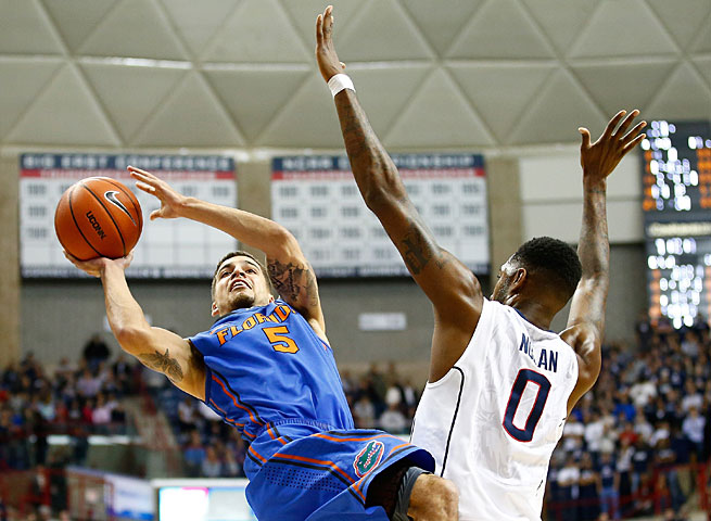 Scottie Wildbekin and the Gators shot 49 percent against the Huskies in their first meeting back in December.