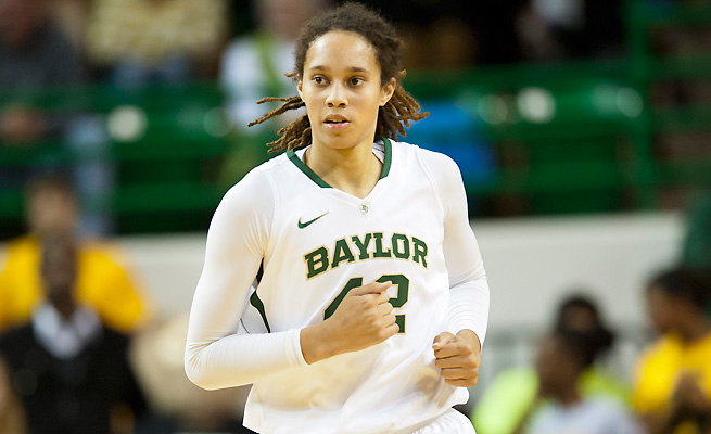 Brittney Griner says that she feels good about Baylor now, despite earlier disagreements with her alma mater.