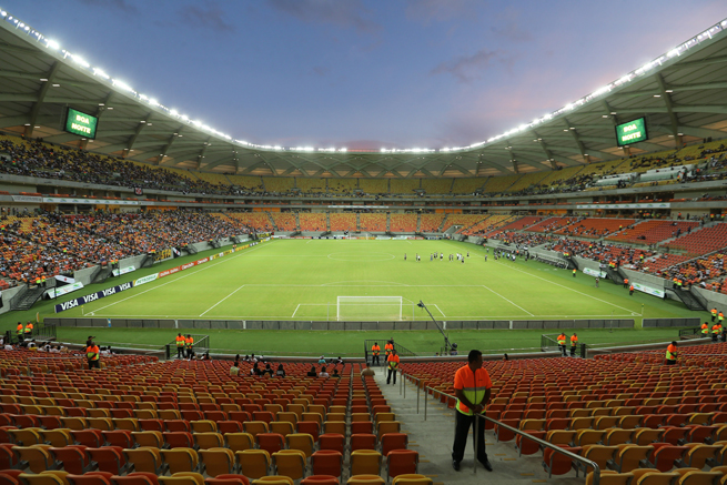 Arena da Amazonia in Manaus hosted a Brazilian Cup game as a test match Thursday, and it will host four World Cup group stage games, including USA-Portugal.