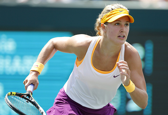 Eugenie Bouchard knocked out Jelena Jankovic, who was the highest-ranked player left after Serena Williams' exit.