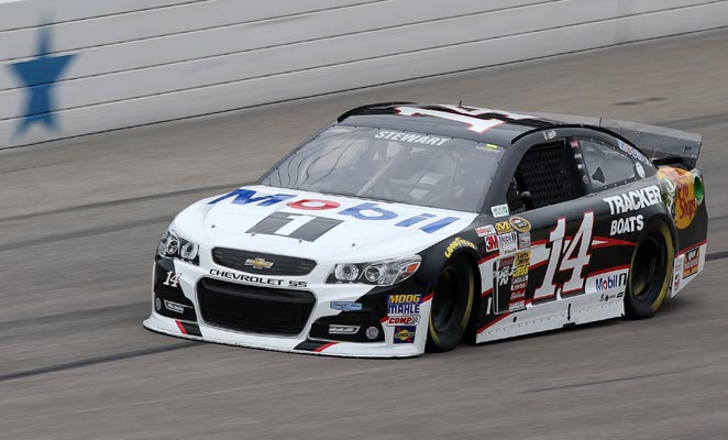 Tony Stewart captured his 15th career pole position on Saturday.