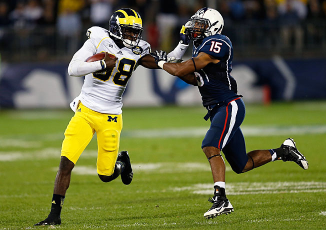 Devin Gardner (98) and Michigan's offense averaged 5.44 yards per play in '13, tied for 76th nationally.