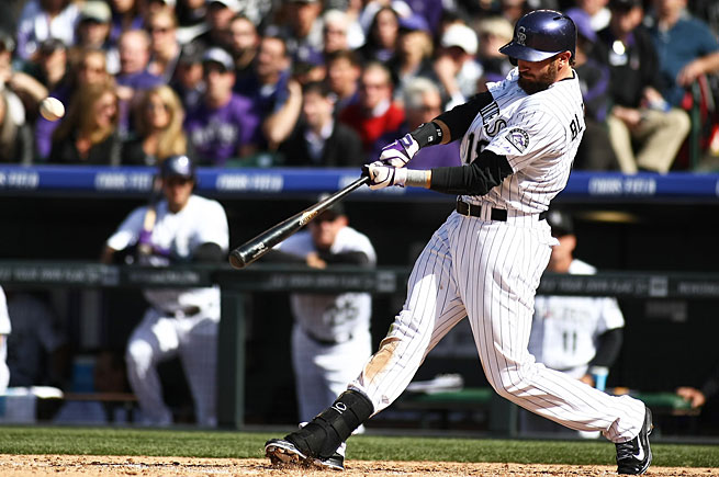 Charlie Blackmon is batting .548 after the first week of the season, the only player in the majors above .500.