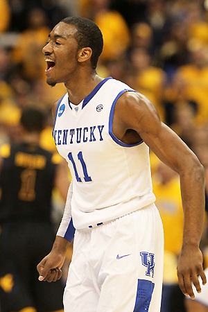 For a while, it seemed as if the Harrison twins would fall short of the reputation of recent Kentucky guards like John Wall (above).