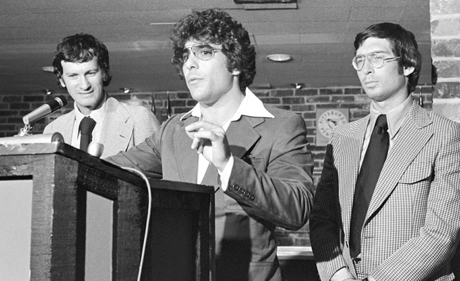 Don Schupak (center) helped Daniel Silna (far right) and his brother Ozzie (not pictured) strike the deal.