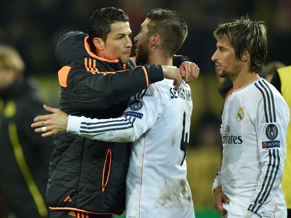 Cristiano Ronaldo, left, sat out Real Madrid's Champions League clash with Borussia Dortmund this week and looks set to miss the Copa del Rey final against Barcelona next Wednesday.