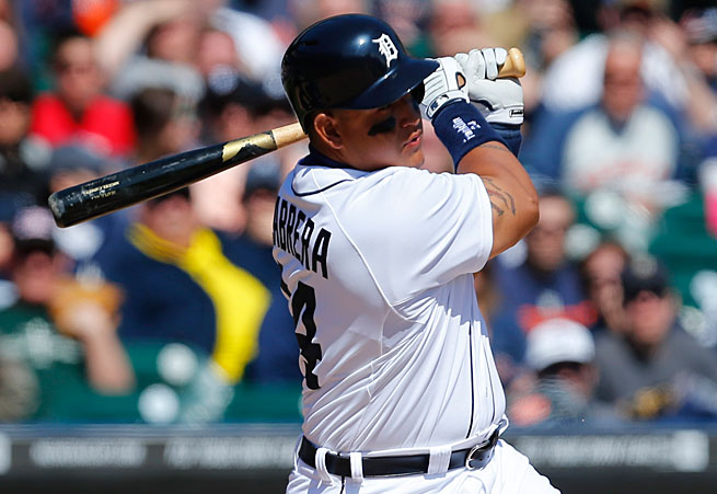 Miguel Cabrera has won the last two AL MVPs, but would he have won the award if it only went to one player in each league?