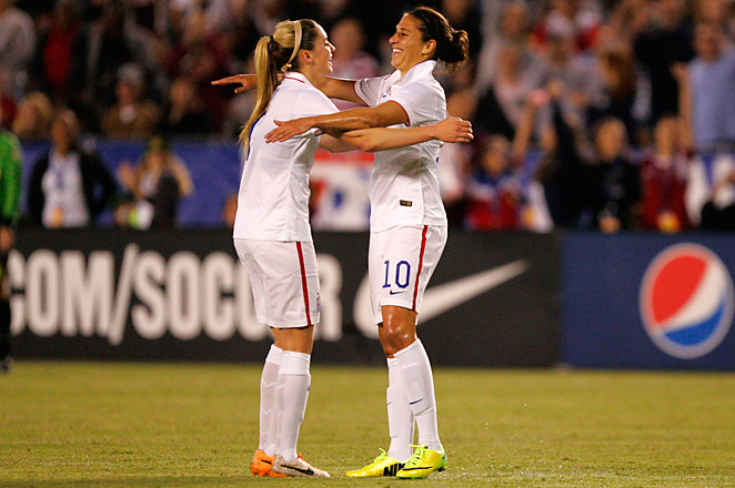 The victory extended the United States' unbeaten streak on home turf to 82 games.