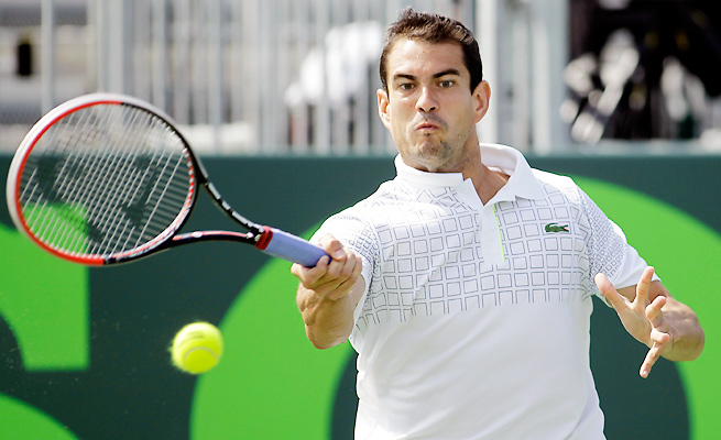 Guillermo Garcia-Lopez broke Roberto Carballes Baena's serve seven times in his semifinal victory.