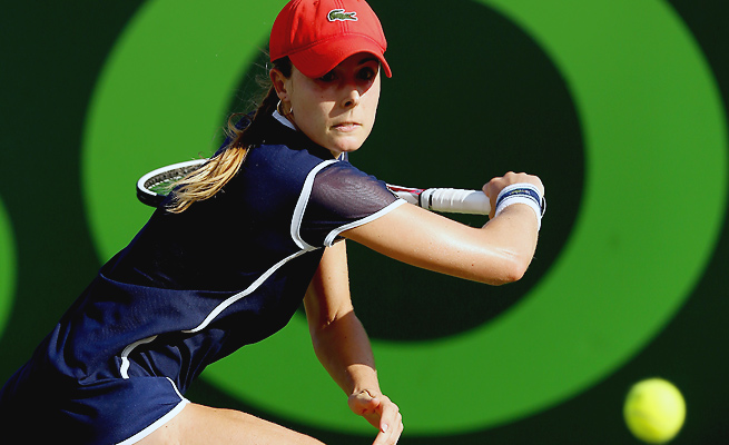 After not taking a set off Agnieszka Radwanska in three past matches, Alize Cornet pulled the upset.
