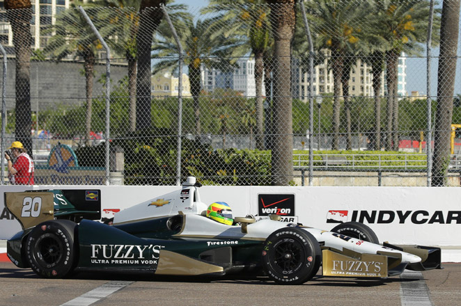 Mike Conway was the surprise winner of a surprisingly physical race at Long Beach.
