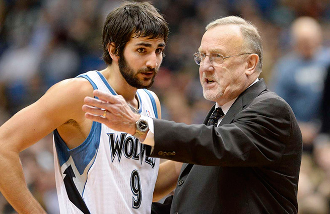 Point guard Ricky Rubio has spent three non-playoff seasons with Rick Adelman in Minnesota.