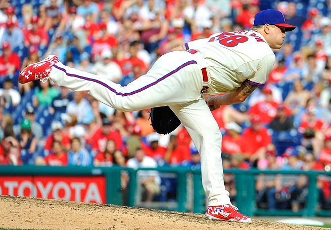 Jonathan Papelbon has been on the decline recently, but his job as the Phillies' closer is not at risk.