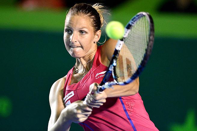 Karolina Pliskova took down Aleksandra Krunic 6-2, 6-2 in the first round in Kuala Lumpur.