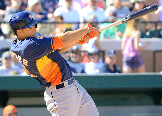 George Springer has a .353 average and three home runs in 61 plate appearances in Triple-A this year.