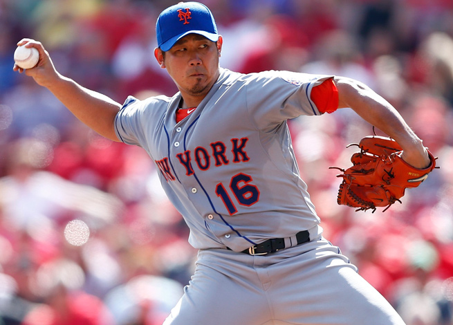 Daisuke Matsuzaka went 3-3 with a 4.42 ERA in seven starts for the Mets last season.
