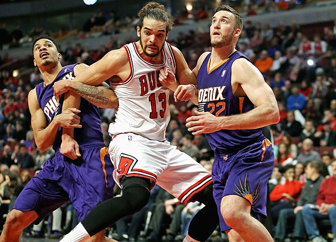 Joakim Noah is a handful on the glass: He averaged at least 11 boards for the second season in a row.