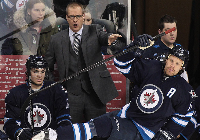 Paul Maurice and the Jets missed the playoffs in his first year as Winnipeg's coach.