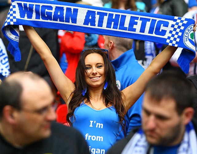 Gettin' Wigan with it at Wembley where the Arse booted her heroes in a shootout in the FA Cup Semifinal.