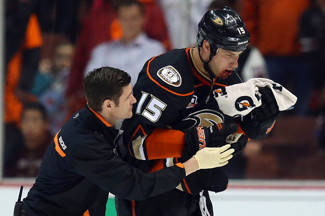 Getzlaf was hit by Tyler Seguin's shot in the final minute of the Ducks' 4-3 victory over Dallas on Wednesday.