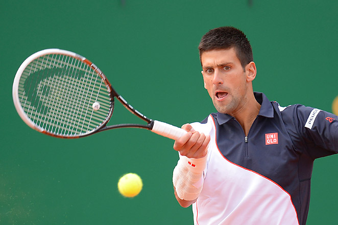 Djokovic played his Monte Carlo semifinal vs. Federer with heavy strapping on his right wrist and was unable to serve or return to his usual level.