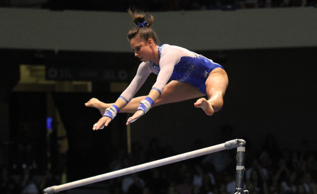 Alaina Johnson and Florida won their second straight NCAA women's gymnastics title.
