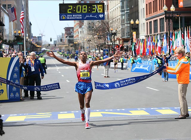 Here are some scenes from the 118th Boston Marathon, where Meb Keflezighi became the first American man to win the race since Greg Meyer in 1983.